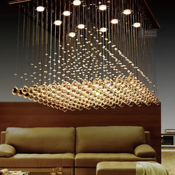 Lifeplus Modern Pyramid Crystal Lamp Chandelier with 12 bulbs -