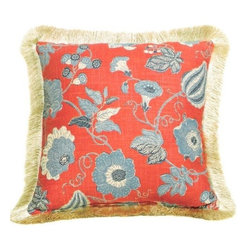 """CCCC-P-499 - Sulawesi Linen Reverse To Stripe Pattern Print 20"""" x 20"""" Throw Pillow with Brush - Sulawesi linen reverse to stripe pattern print 20"""" x 20"""" throw pillow with brush fringe trim. Measures 20"""" x 20"""" made with a blown in foam and also available with feather down inserts at additional costs, search for down insert upgrade to add the up charge to your order. These are custom made in the U.S.A and take 4- 6 weeks lead time for production."""