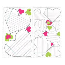 RoomMates - Heart Notepad Dry Erase Peel and Stick Wall Decals Multicolor - RMK1609SCS - Shop for Stickers from Hayneedle.com! About Roommates: Roommates a subsidiary of York Wallcoverings Inc creates some of the most versatile and unique wall decor you'll find. Their innovative wall decals feature a removable and endlessly reusable design allowing you to move and rearrange your decals as often as you like all without causing any damage to your walls or furnishings. This means you can apply them without worry or headache since you don't have to get the application perfect the first time. RoomMates work on any smooth surface and are particularly ideal for temporary decorating such as around the holidays. All RoomMates products are proudly made in the USA and are made from non-toxic materials so they're as safe for your kids and pets as they are for your walls.Please note this product does not ship to Pennsylvania.