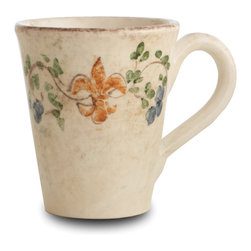 Arte Italica - Medici Mug - Just a giglio! The Italian term for fleur-de-lis — this charming pattern adorns this handmade and subtly hued mug. Let it transform your daily coffee break into a special pleasure to savor.