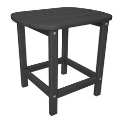 Polywood - 18 in. Eco-friendly Side Table - The charming Polywood South Beach Side Table. Make the ideal companion to the South Beach Adirondack, Dining Chair, Chaise or Rocker. Solid Polywood recycled lumber that has the look of painted wood without the maintenance real wood requires. It won't splinter, crack, chip, peel or rot and it never needs to be painted, stained or waterproofed. It is resistant to corrosive substances, insects, fungi, salt spray and other environmental stresses.