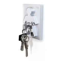 "J-Me - His & Hers Keyholder - This brilliant key holder unlocks the secret to knowing where your keys are at all times. Whether you live alone or with a partner, mount it right by your main entrance and never again hear, ""Where are my keys?!"""
