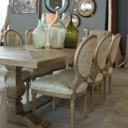 Oak dining table - 108'' x 42'' x 30''