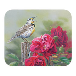 "535-Meadow Lark Mouse Pad - Decorate your desk with your favorite art designs that look great and protect your mouse from scratches and debris. 100% Polyester face, 100% neoprene backing, permanently dye printed & fade resistant. 9.25"" x 7.5"""