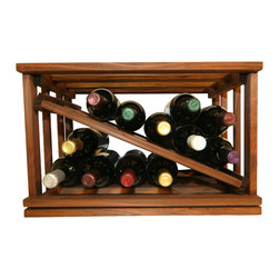 Products - The Mini-Stack Series Diamond Slat wine rack goes perfectly with the other racks in our Mini-Stack Series. This Diamond Slat wine rack holds 12 wine bottles and ships out fully assembled from Cincinnati, Ohio.  Mix and match any of our Mini-Stack Series wine racks and stack them side by side and on top of one another for up to ten feet in height.