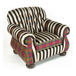 """Courtly Campaign Club Chair 