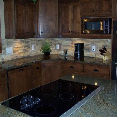 Stone Veneer Kitchen Backsplash Professional Space Adam