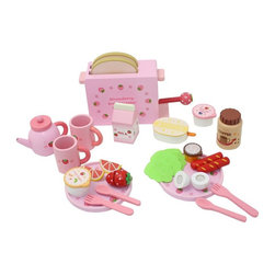 Berry Toys - Berry Toys Complete Healthy Breakfast Wooden Play Food Set Brown - WJ279036 - Shop for Cooking and Housekeeping from Hayneedle.com! The Berry Toys Complete Healthy Breakfast Wooden Play Food Set has everything your kids need for a complete pretend breakfast! The set is made of solid wood and has a smooth-sanded pink finish with sweet strawberry accents. Your kids can set a breakfast table for two with coffee fruit yogurt and more! Pop some bread in the toaster and push down the strawberry handle for toast or share a hard-boiled egg and sausages. This cute play food set will provide hours of entertainment for your children.About Berry ToysBased in Chino Hills California Berry Toys is a leading manufacturer of children's toys. Berry Toys aims to educate children through play and their toy selection includes play kitchens play foods musical instruments play tools and more. If you want affordable pricing quality customer service and educational toys that are manufactured according to the highest standards Berry Toys can deliver.