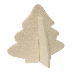 The Felt Store - Decorative Felt Christmas Tree With Stand - White - The Felt Store's Decorative Tree is the perfect home decoration item for the holiday season. It is made from our high-quality 0.19 inches(5mm) designer felt and measures 4.5 inches x 4 inches(114.3mm x 101.6mm). The Decorative Tree goes perfectly with our other Home Decor products and will add christmas atmosphere to your home. Several colors are available.
