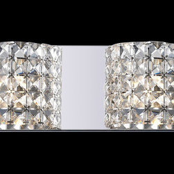 Z-Lite - Z-Lite 867-2V Panache 2 Light Bathroom Vanity Lights in Chrome - Shades of crystal set on highly polished chrome fixtures diffuse the light into dancing and glittering beams which creates a sophisticated d�cor.