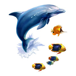 York Wallcoverings - Under Sea Animals 24pc Self-Stick Wall Accent Stickers Set - FEATURES: