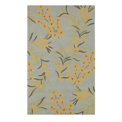 Surya - Surya Cannes Blue Indoor/Outdoor Polyester Rug, 8' x 10' - Material: 100% PolyesterCare Instructions: Blot Stains
