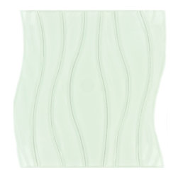 """Euro - White Glossy Glass - Transform any room with these unique and inspired White Glossy Glass tiles. Whether you are looking to infuse your decor with something classic or contemporary, this artful blend lends the perfect ambience. Both distinctive and durable, these tiles can be used in myriad applications, be it backsplashes, bathrooms, fireplaces, walls, even ceilings and floors. Incorporate these top quality artisan tiles for a gorgeous and dramatic effect.        Sheet size:  10 5/8"""" x 11 3/4""""        Tile Size:  3/4"""" - 1 3/4"""" x 11 3/4""""        Tiles per sheet:  7        Tile thickness:  1/4""""        Grout Joints:  1/8""""        Sheet Mount:  Mesh Backed     Sold by the sheet"""