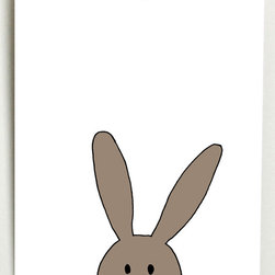 Josefina Mae Design - Bunny Print - Add a pop of color to your space with this charming print. With a pleasant palette and clean design, it's sure to enliven décor.   8'' W x 10'' H Acid-free paper Made in the USA