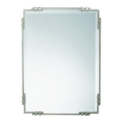 Kichler Mirrors As a match - Brushed Nickel - Mirrors. As a match to the beauty wrap bathroom fixture, purchase this fine brushed nickel beveled mirror to complete a uniform look for your beauty wrap lighting system. It measures 24 wide by 33 high.