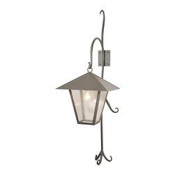 """Meyda Lighting - Meyda Lighting 82331 18""""W Vine Lantern Shepherd's Hook Outdoor Wall Sconce - Meyda Lighting 82331 18""""W Vine Lantern Shepherd's Hook Outdoor Wall Sconce"""