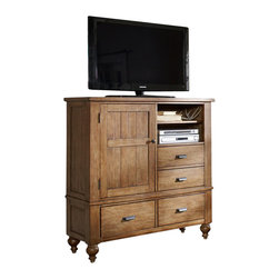 Riverside Furniture - Riverside Furniture Summerhill Media Chest in Canby Rustic Pine - Riverside Furniture - Chests - 91664 - Riverside's products are designed and constructed for use in the home and are generally not intended for rental, commercial, institutional or other applications not considered to be household usage.