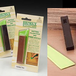 Briwax Furniture Colored Wax Filler Stick - Jacobean - Filler sticks are coordinated with Briwax as follow:  5 Colors Available: English Light Oak (Golden Oak), Antique Pine (Light Brown),  Jacobean (Dark Brown), Rustic Brown (Tudor Brown) and Antique Mahogany.