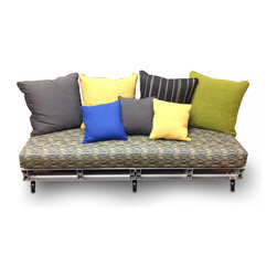 Eco Pact - Recycled Aluminum Pallet Sofa Couch Chaise - The Watson