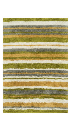 """Loloi Rugs - Loloi Rugs Garden Shag Collection - Citron / Multi, 3'-6"""" x 5'-6"""" - Introducing one of our most inventive collections; the first-ever indoor/outdoor shag. Hand woven in India of 100% polyester, Garden Shag offers the same softness and textural appeal of our other shag collections, except this yarn is treated to withstand all of mother nature's elements including sunshine, rain, and dirt. And because the look is so versatile, Garden Shag looks equally at home as an easy-to-clean rug in the dining room or sunroom as it does outdoors."""