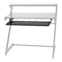 Eurostyle - Keyboard Tray-Gblk/Smkd - Graphite black powder, epoxy-coated steel frame