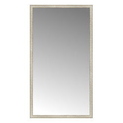 """Posters 2 Prints, LLC - 43"""" x 78"""" Libretto Antique Silver Custom Framed Mirror - 43"""" x 78"""" Custom Framed Mirror made by Posters 2 Prints. Standard glass with unrivaled selection of crafted mirror frames.  Protected with category II safety backing to keep glass fragments together should the mirror be accidentally broken.  Safe arrival guaranteed.  Made in the United States of America"""
