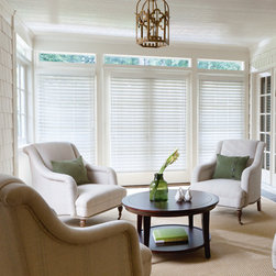 "Levolor - Levolor 2 1/2-inch Visions Faux Wood Blinds - Designed to resist moisture and fit into your budget, the Levolor Faux Wood Collection offers many choices to complement your style.  The 2 1/2"" slat size is suited for larger windows or where more view-through is preferred."