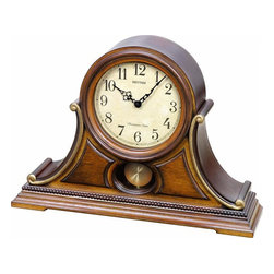 RHYTHM - WSM Tuscany II Wooden Musical Mantel Clock - The WSM Tuscany II brings a little bit of Italy to your mantle.