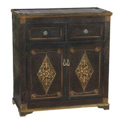 Sterling Lighting - Medecci Cabinet - Two drawers. Two doors. Made from MDF and metal. 32.25 in. W x 16 in. D x 34.5 in. H (54 lbs.)