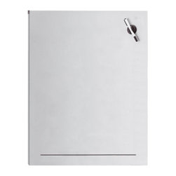 Blomus - Muro 29.63 in. Perforated Steel Magnet Board - Includes pen and eraser. Made of steel, Aluminum coated. 1-Year manufacturer's defect warranty. 29.63 in. L x 45.43 in. W
