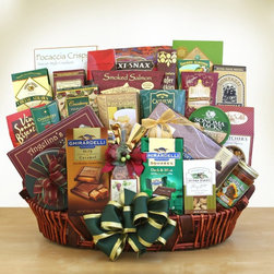 Givens and Company - In Good Company Gift Basket Multicolor - 7502 - Shop for Recliners from Hayneedle.com! Gift Basket Includes:White and milk chocolate-covered sandwich cookies Ghirardelli milk and caramel squares Snack mix Ghirardelli dark and mint squares Nunes farms cashews Salsa Ghirardelli Masterpiece collection chocolate assortment Butter cookies Chocolate-dipped biscotti Chocolate truffles Chocolate wafer cookies Cranberry harvest medley Water crackers Cashew Roca hot cocoa mix Butter toffee pretzels Cheese chocolate-drizzled gourmet popcorn Smoked almonds Tortilla chips Chocolate-covered cherries Focaccia crackers chocolate chip cookies. When you need to make a grand impression this is the selection! Make a giant impression. This gift basket is stupendous in size and hugely satisfying to all who partake. When you want to send a truly remarkable gift collection this is the way to go. Please note that for this item the following services are available during the checkout process: Multiple Ship-To which allows you to send gifts to several recipients with a single order. Future Delivery which lets you select a specific date for delivery so your gift arrives at the perfect time. About Givens and CompanyIn the early 1900s Joseph Givens was a fine foods purveyor in Missouri. He and his family were known for providing delicious assortments of treats and fresh fruits to eager customers. Over 80 years later the Givens' grandchildren came together to reignite the family tradition and thus Givens and Company was born in California. In operation since 1987 they are thrilled to provide you with the cream of the crop when it comes to gourmet wine food desserts and fruits straight from California. All of these delicious items are packaged in gorgeous gift baskets and packages that cater to any and all occasions. Givens and Company offers a huge selection designed to suit any need from dietary restrictions to unique occasions. Whatever your reason for giving a gift count o
