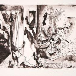 Pablo Picasso, Chevalier En Armure, Page Et Femme Nue, 7-A, Lithograph - Artist:  Pablo Picasso, After, Spanish (1881 - 1973)