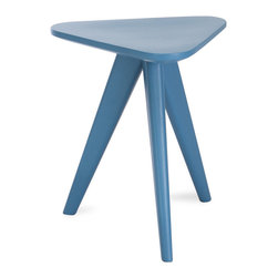 Bryght - Petite Blue Stool - Form and function unite in the Petite collection to offer you wonderfully vibrant pops of color. Add these Scandi style stools to your dining space or as end tables in the living room and create a youthful ambiance.