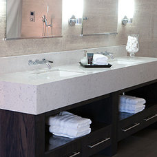 contemporary bathroom countertops by Bella Pietra