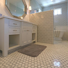 Transitional Bathroom by Cabochon Surfaces & Fixtures