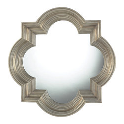 Sterling Industries - Osbourne Mirror In Midland Silver - The Osbourne Mirror In Midland Silver is a beautiful shape that really pops.  This stunning mirror is a wonderful example of a mirror that will add an elegance to any room.  The frame is made of resin and finished with a silver with black speckle.