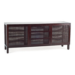 Kenneth Cobonpue - Kenneth Cobonpue Suzy Wong Buffet Cabinet - Thisbuffet cabinetis constructed of walnut or oak wood with woven abaca.Manufactured byKenneth Cobonpuein The Philippines. Price includes delivery to theUSA.
