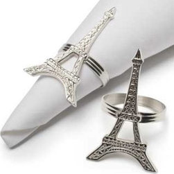 Eiffel Tower Napkin Rings - Eiffel Tower napkin rings will add such a dazzle to your napkins!