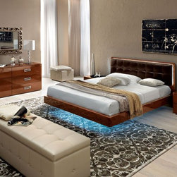 Made in Italy Leather High End Bedroom Furniture Sets feat. Light - Modern sexy european style queen bedroom set sky made in Italy. This Modern Sexy European style