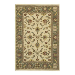 """Karastan - Karastan Sierra Mar 35505-33009 (Sedona Ivory Limers) 8'6"""" x 11'6"""" Rug - Comfortable, weathered, easy to live with color, is the signature style of the Sierra Mar collection, with relaxed patterns that complement both traditional and modern design. Woven in the U.S.A., the pure New Zealand worsted wool yarns have been specially twisted and space-dyed to create artful color 'stria' reminiscent of fine hand woven 'Peshawar' rugs."""