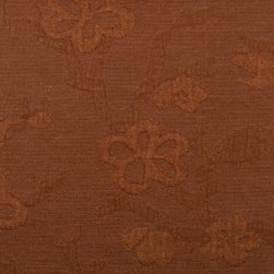 Floral - Medium - Earth Upholstery Fabric - Item #1012321-340.