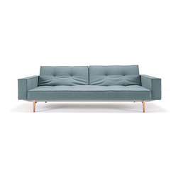 Innovation USA - Innovation USA Splitback Sofa W/Arms - Light Wood Legs - Mixed Dance Light Blue - Modern elegance combined with multifunction and modularity. Enables you to create a playful non-static living room.