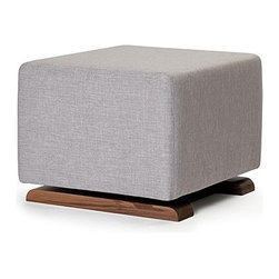 """Monte Design - Monte Design   Como Ottoman - Handmade in Toronto, Canada by Monte Design.Designed to accompany the Como Glider, the Como Ottoman offers an idyllic spot to put your feet up and relax. This ottoman features an exceptionally smooth gliding mechanism and a beautiful, solid walnut base. The clean, simple lines will complement any modern décor throughout the home. Product Features:  Walnut base 6"""" dense foam wrapped with polyester batting Foam is locally manufactured from natural seed-based oils, halogen free, low VOC, and is free of mercury, lead and other heavy metals Foam is free from CFCs, PBDEs and TDCPPs Durable, stain-resistant microfiber upholstery Quality hardwood and engineered plywood frames with screwed and glued joints for extra strength and durability All woods meet the LEED Rating System for wood adhesives and certified by the Forest Stewardship Council (FSC) Fabrics and threads are manufactured according to Oeko-Tex® Standard 100 Handmade to order in Toronto, Canada"""