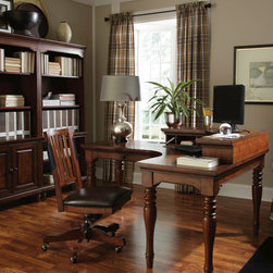 Aspenhome - Curve L Shaped Desk with Writing Hutch -