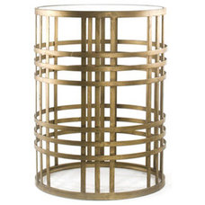 Nightstands And Bedside Tables 'Weave' Metal Barrel End Table
