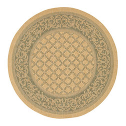 """Couristan - Recife Garden Lattice Rug 1016/5016 - 7'6"""" x 7'6"""" Round - These weather-defying area rugs are suitable for indoor and outdoor use. You'll love the way they color-coordinate with today's most popular outdoor furniture pieces. The collection's naturally inspired color palette will provide a warmer and more inviting appearance for patio decks and stone entryways."""