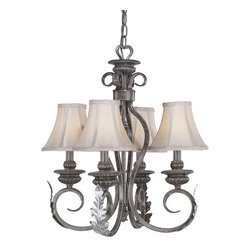 Vaxcel - Princeton Burnt Patina 4 Light Chandelier - Vaxcel PR-CHU004BA Princeton Burnt Patina 4 Light Chandelier