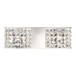 Vienna Full Spectrum Chrome Crystal Modern Bath Light -