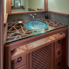 Craftsman Bathroom by Treve Johnson Photography