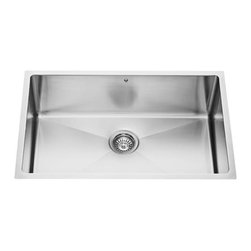 Vigo - VIGO VGR3019C Undermount Single Kitchen Sink - Give your kitchen a makeover starting with a VIGO stainless steel kitchen sink.